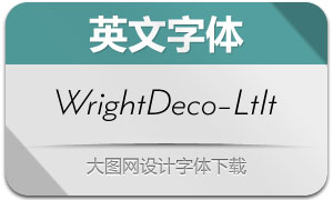 WrightDeco-LightIt(英文字体)
