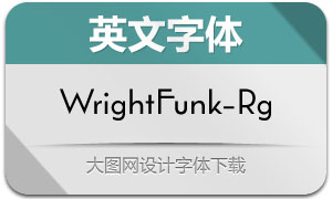 WrightFunk-Regular(英文字体)