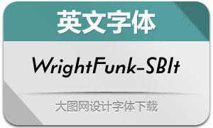 WrightFunk-SemiBoldIt(英文字体)