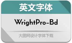 WrightPro-Bold(英文字体)