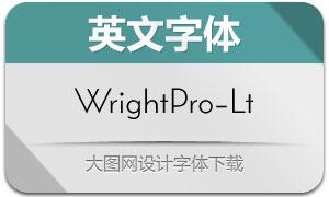 WrightPro-Light(英文字体)