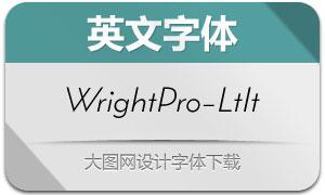 WrightPro-LightIt(英文字体)