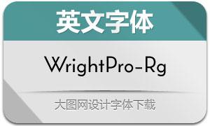 WrightPro-Regular(英文字体)