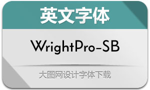 WrightPro-SemiBold(英文字体)