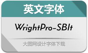WrightPro-SemiBoldIt(英文字体)