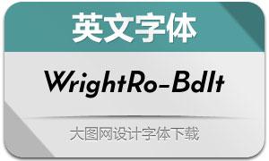 WrightRoman-BoldIt(英文字体)