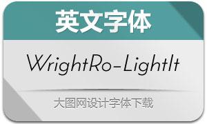 WrightRoman-LightIt(英文字体)