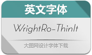 WrightRoman-ThinIt(英文字体)
