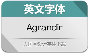 Agrandir系列14款英文字体