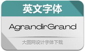AgrandirGrand系列14款英文字体