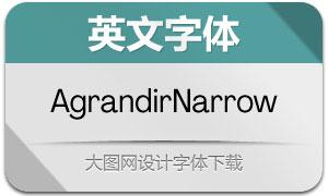 AgrandirNarrow系列14英文字体