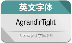AgrandirTight系列14款英文字体