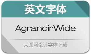 AgrandirWide系列14款英文字体