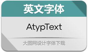 AtypText系列12款英文字体