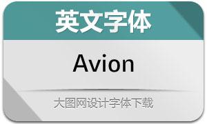 Avion系列20款英文字体