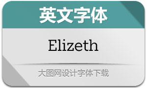 Elizeth系列14款英文字体