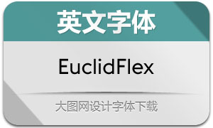EuclidFlex系列14款英文字体