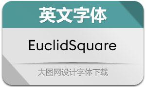 EuclidSquare系列10款英文字体