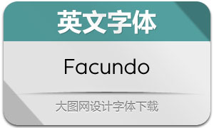Facundo系列14款英文字体