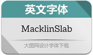 MacklinSlab系列18款英文字体