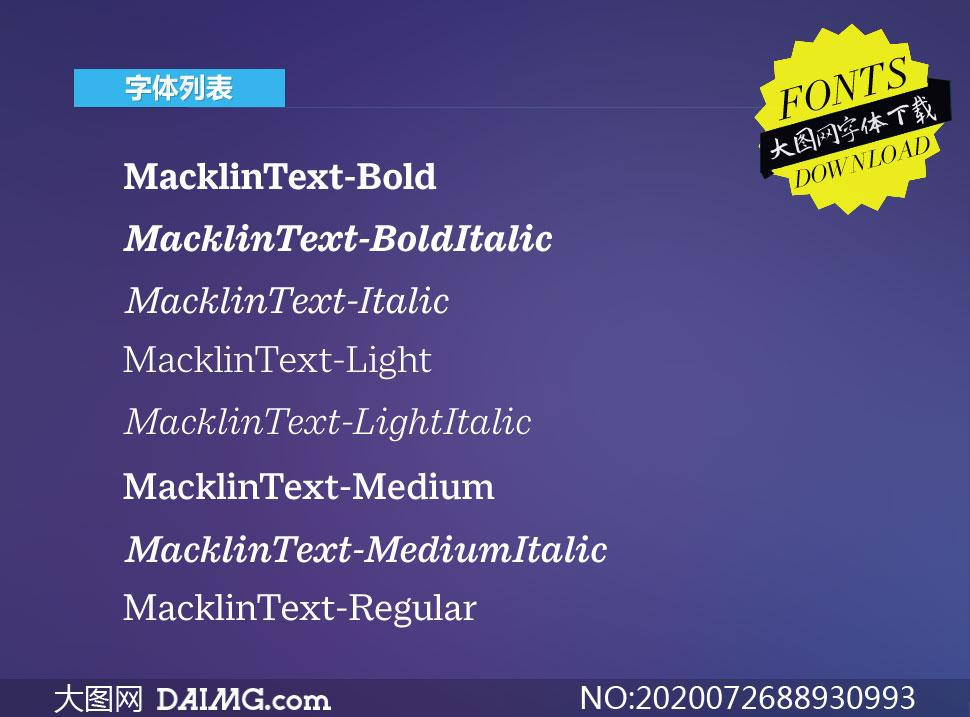 MacklinText系列8款英文字体