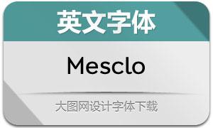 Mesclo系列15款英文字体