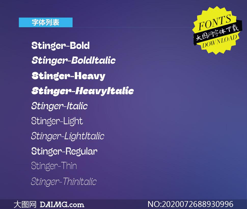 Stinger系列10款英文字体