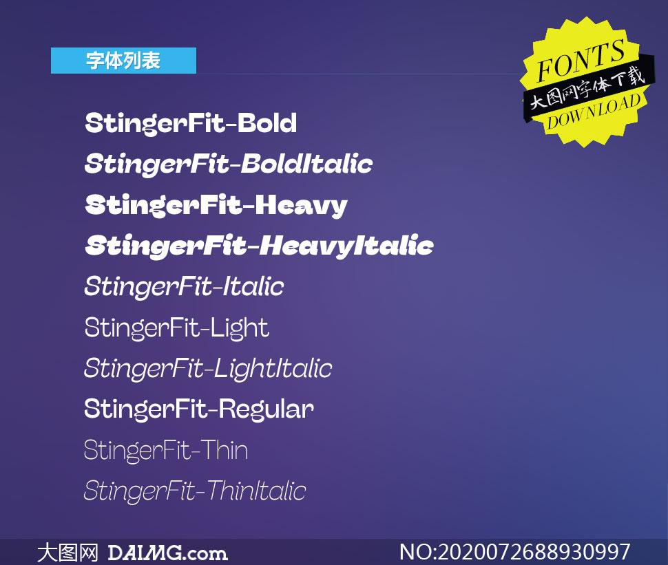 StingerFit系列10款英文字体