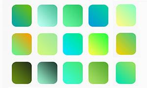 绿色小清新主题PS渐变