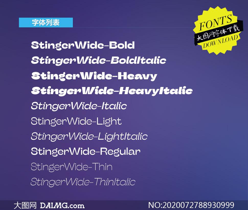 StingerWide系列10款英文字体