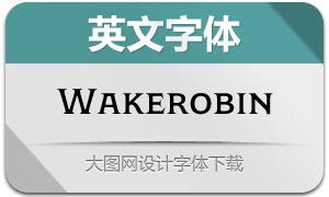 Wakerobin系列14款英文字体