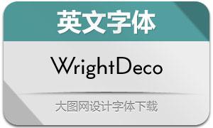 WrightDeco系列12款英文字体