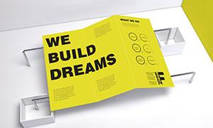 三折页印刷效果展示样机模板源文件