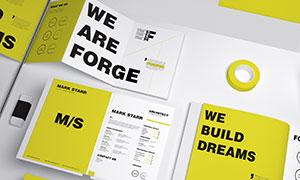 折页画册等印刷品样机设计分层素材