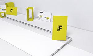 不同摆放效果的名片样机模板源文件