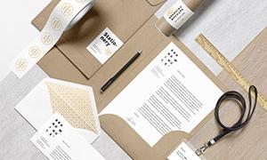 资料夹信封与证件卡等样机模板素材