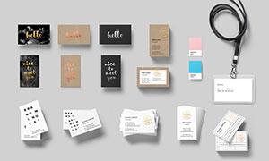夹子名片与证件卡等样机模板源文件