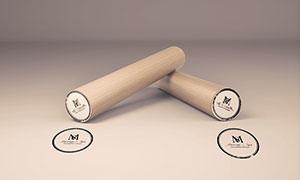 印章与盖戳效果展示贴图模板源文件