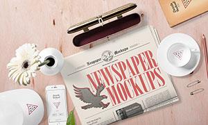 帽子手机与报纸等多种样机模板素材