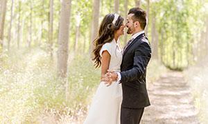 十指紧扣幸福恋人婚纱摄影高清图片