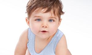 蓝眼睛的可爱宝宝特写摄影高清图片