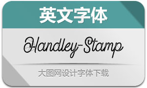 Handley-Stamp(英文字体)