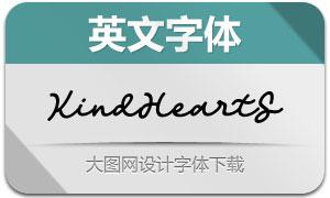 KindHeartSlant(英文字体)