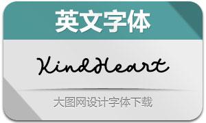 KindHeart(英文字体)
