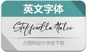 Steffinella-Italic(英文字体)