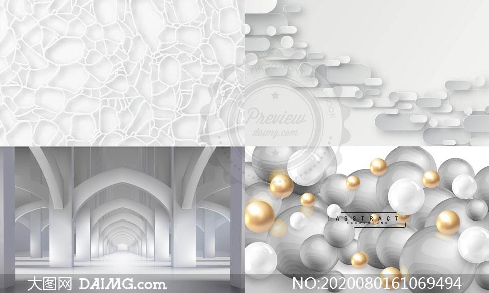 几何图形抽象背景创意矢量素材集V105