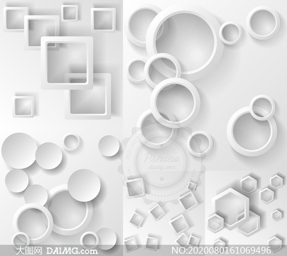 几何图形抽象背景创意矢量素材集V107
