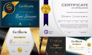 多种多样的授权书与证书等素材V208