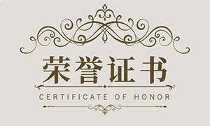 学员荣誉证书和奖状设计模板矢量素材