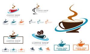 咖啡店铺标志主题创意设计矢量素材